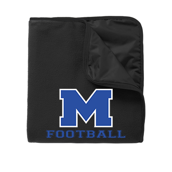 Black Fleece & Polyester Travel Blanket with McNary High Schools Football Logo