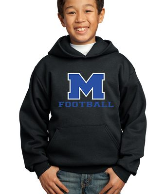 Boy Model Wearing Black Hoodie with McNary High School Logo